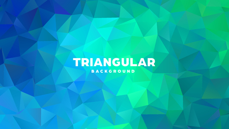 Triangle polygonal abstract geometric background. Colorful gradient design. Low poly shape banner. Vector illustration Standard-Bild - 121391686