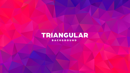 Triangle polygonal abstract geometric background. Colorful gradient design. Low poly shape banner. Vector illustration Standard-Bild - 121391687