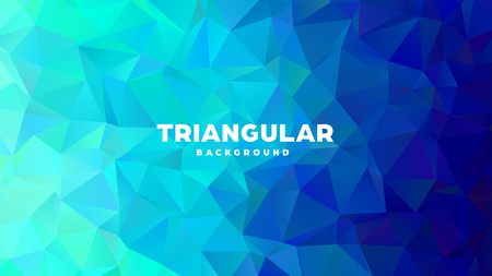 Triangle polygonal abstract geometric background. Colorful gradient design. Low poly shape banner. Vector illustration Standard-Bild - 121391689