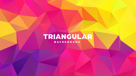 Triangle polygonal abstract geometric background. Colorful gradient design. Low poly shape banner. Vector illustration