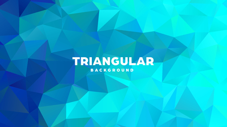 Triangle polygonal abstract geometric background. Colorful gradient design. Low poly shape banner. Vector illustration Standard-Bild - 121391691