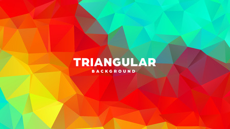 Triangle polygonal abstract geometric background. Colorful gradient design. Low poly shape banner. Vector illustration Standard-Bild - 121391692