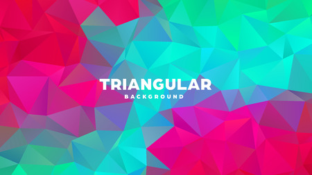 Triangle polygonal abstract geometric background. Colorful gradient design. Low poly shape banner. Vector illustration Standard-Bild - 121391693