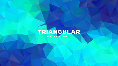 Triangle polygonal abstract geometric background. Colorful gradient design. Low poly shape banner. Vector illustration Standard-Bild - 121391694