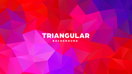 Triangle polygonal abstract geometric background. Colorful gradient design. Low poly shape banner. Vector illustration Standard-Bild - 121391695