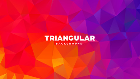 Triangle polygonal abstract geometric background. Colorful gradient design. Low poly shape banner. Vector illustration Standard-Bild - 121391697