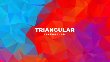 Triangle polygonal abstract geometric background. Colorful gradient design. Low poly shape banner. Vector illustration. Standard-Bild - 121391698