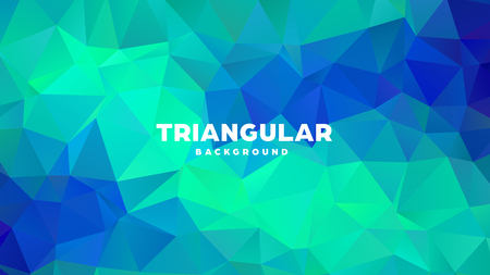 Triangle polygonal abstract geometric background. Colorful gradient design. Low poly shape banner. Vector illustration. Standard-Bild - 121391701