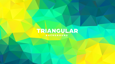 Triangle polygonal abstract geometric background. Colorful gradient design. Low poly shape banner. Vector illustration.