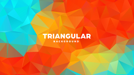 Triangle polygonal abstract geometric background. Colorful gradient design. Low poly shape banner. Vector illustration. Standard-Bild - 121391951