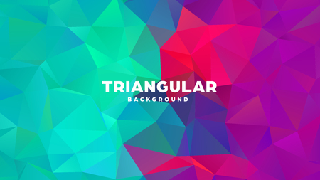 Triangle polygonal abstract geometric background. Colorful gradient design. Low poly shape banner. Vector illustration. Standard-Bild - 121391952