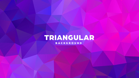 Triangle polygonal abstract geometric background. Colorful gradient design. Low poly shape banner. Vector illustration. Standard-Bild - 121391954