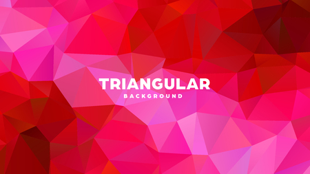 Triangle polygonal abstract geometric background. Colorful gradient design. Low poly shape banner. Vector illustration. Standard-Bild - 121391955