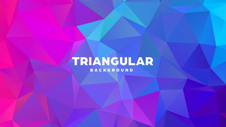 Triangle polygonal abstract geometric background. Colorful gradient design. Low poly shape banner. Vector illustration. Standard-Bild - 121391956
