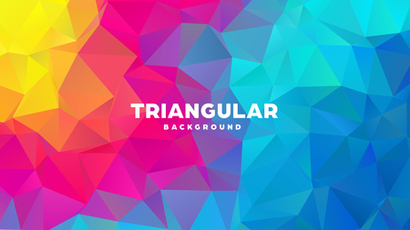 Triangle polygonal abstract geometric background. Colorful gradient design. Low poly shape banner. Vector illustration. Standard-Bild - 121391957