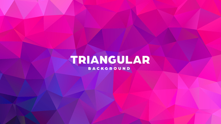 Triangle polygonal abstract geometric background. Colorful gradient design. Low poly shape banner. Vector illustration. Standard-Bild - 121391958