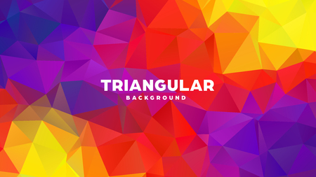 Triangle polygonal abstract geometric background. Colorful gradient design. Low poly shape banner. Vector illustration. Standard-Bild - 121391959