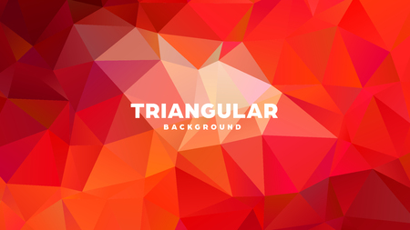 Triangle polygonal abstract geometric background. Colorful gradient design. Low poly shape banner. Vector illustration. Standard-Bild - 121391960