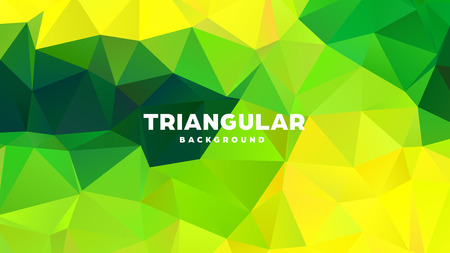 Triangle polygonal abstract geometric background. Colorful gradient design. Low poly shape banner. Vector illustration. Standard-Bild - 121391961