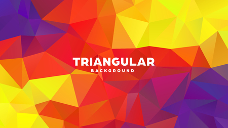 Triangle polygonal abstract geometric background. Colorful gradient design. Low poly shape banner. Vector illustration. Standard-Bild - 121391962
