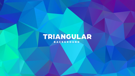 Triangle polygonal abstract geometric background. Colorful gradient design. Low poly shape banner. Vector illustration. Standard-Bild - 121391963