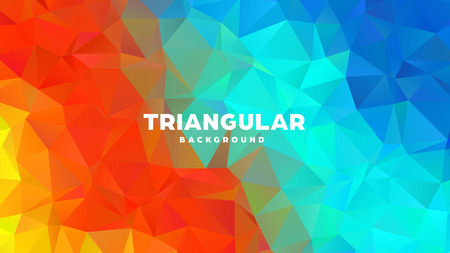 Triangle polygonal abstract geometric background. Colorful gradient design. Low poly shape banner. Vector illustration. Standard-Bild - 121391964