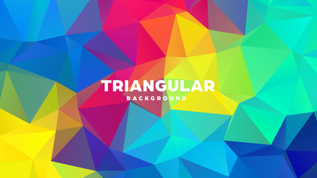 Triangle polygonal abstract geometric background. Colorful gradient design. Low poly shape banner. Vector illustration. Standard-Bild - 121391965