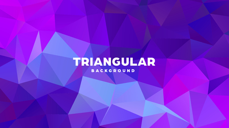 Triangle polygonal abstract geometric background. Colorful gradient design. Low poly shape banner. Vector illustration Standard-Bild - 121391966