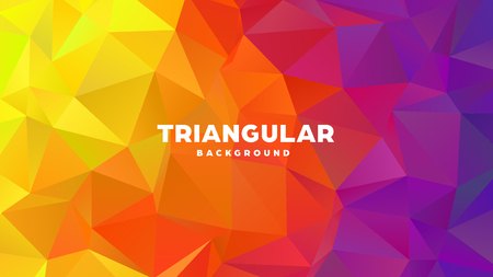 Triangle polygonal abstract geometric background. Colorful gradient design. Low poly shape banner. Vector illustration. Standard-Bild - 121391967