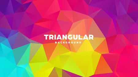 Triangle polygonal abstract geometric background. Colorful gradient design. Low poly shape banner. Vector illustration. Standard-Bild - 121391969