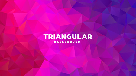 Triangle polygonal abstract geometric background. Colorful gradient design. Low poly shape banner. Vector illustration Standard-Bild - 121391970