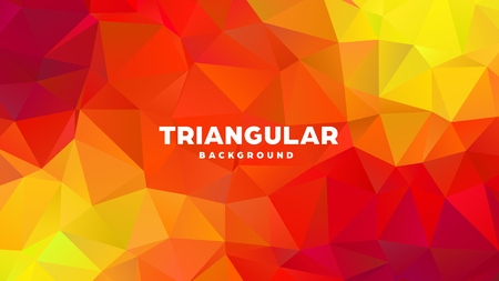 Triangle polygonal abstract geometric background. Colorful gradient design. Low poly shape banner. Vector illustration Standard-Bild - 121391972