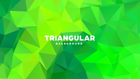 Triangle polygonal abstract geometric background. Colorful gradient design. Low poly shape banner. Vector illustration Standard-Bild - 121391973