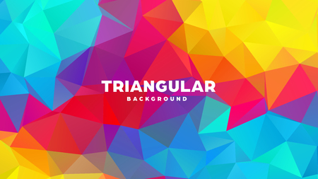Triangle polygonal abstract geometric background. Colorful gradient design. Low poly shape banner. Vector illustration Standard-Bild - 121391975