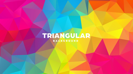 Triangle polygonal abstract geometric background. Colorful gradient design. Low poly shape banner. Vector illustration Standard-Bild - 121391976