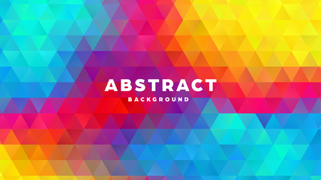 Triangle polygonal abstract background. Colorful gradient design. Low poly shape banner. Vector illustration. Standard-Bild - 121501846