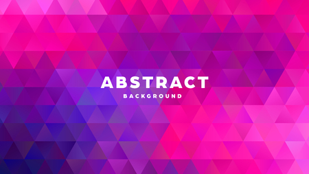 Triangle polygonal abstract background. Colorful gradient design. Low poly shape banner. Vector illustration. Standard-Bild - 121501847