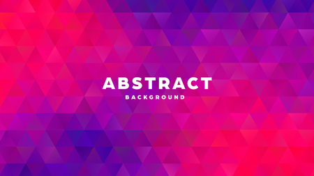Triangle polygonal abstract background. Colorful gradient design. Low poly shape banner. Vector illustration. Standard-Bild - 121501848