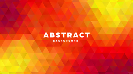 Triangle polygonal abstract background. Colorful gradient design. Low poly shape banner. Vector illustration. Standard-Bild - 121501849