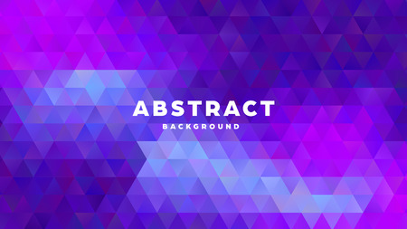 Triangle polygonal abstract background. Colorful gradient design. Low poly shape banner. Vector illustration. Standard-Bild - 121501850