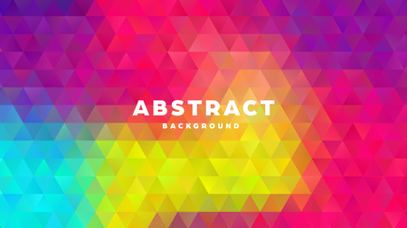 Triangle polygonal abstract background. Colorful gradient design. Low poly shape banner. Vector illustration. Standard-Bild - 121501852
