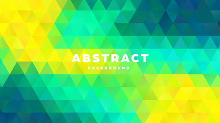 Triangle polygonal abstract background. Colorful gradient design. Low poly shape banner. Vector illustration. Standard-Bild - 121501854