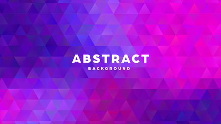 Triangle polygonal abstract background. Colorful gradient design. Low poly shape banner. Vector illustration. Standard-Bild - 121501860