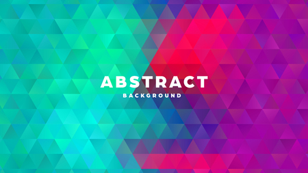 Triangle polygonal abstract background. Colorful gradient design. Low poly shape banner. Vector illustration. Standard-Bild - 121501861