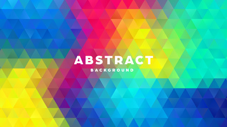 Triangle polygonal abstract background. Colorful gradient design. Low poly shape banner. Vector illustration. Standard-Bild - 121501976
