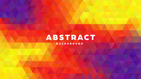 Triangle polygonal abstract background. Colorful gradient design. Low poly shape banner. Vector illustration. Standard-Bild - 121501981
