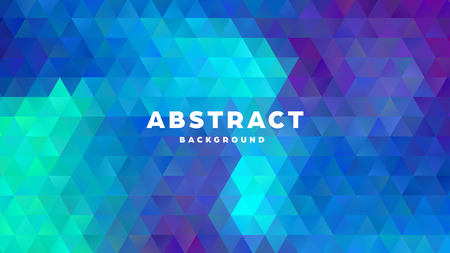 Triangle polygonal abstract background. Colorful gradient design. Low poly shape banner. Vector illustration. Standard-Bild - 121501989