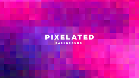 Polygonal abstract background with squares. Colorful gradient design. Low poly geometric rectangle shape modern banner. Vector illustration. Standard-Bild - 121501995