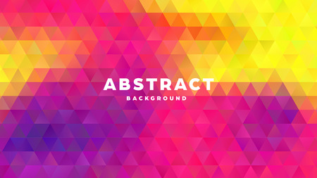 Triangle polygonal abstract background. Colorful gradient design. Low poly shape banner. Vector illustration. Standard-Bild - 121501996