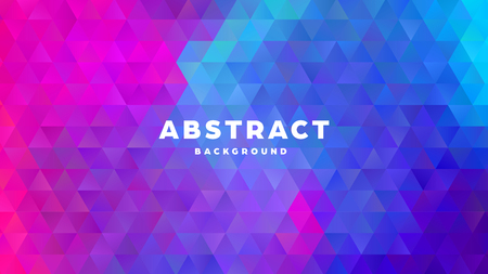 Triangle polygonal abstract background. Colorful gradient design. Low poly shape banner. Vector illustration. Standard-Bild - 121501997